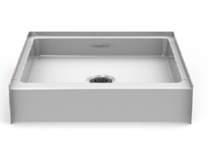 "30""x30"" step-in shower pan"