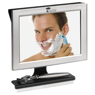 Fogless Shower Mirror with Squeegee by ToiletTree Products
