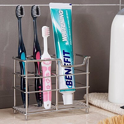 K-Steel Stainless Steel Stand Bathroom Toothbrush Toothpaste Holder