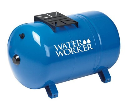 WaterWorker HT20HB Horizontal Pressure Well Tank, 20-Gallon Capacity, Blue