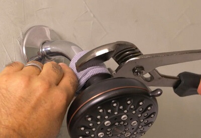 Install the new shower head