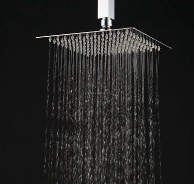Roll over image to zoom in Hiendure 12-inch High Pressure Ultra Thin 304 Stainless Steel Square Rain Shower Head