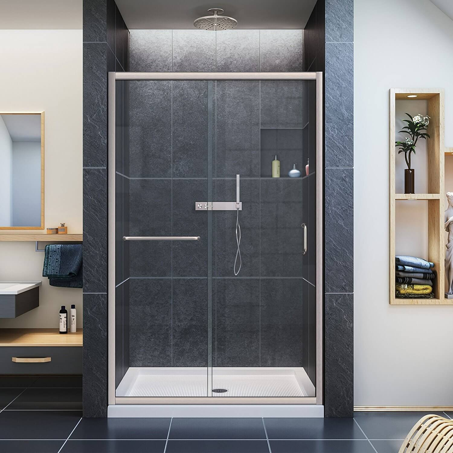 dreamline infinityz semiframed sliding shower door
