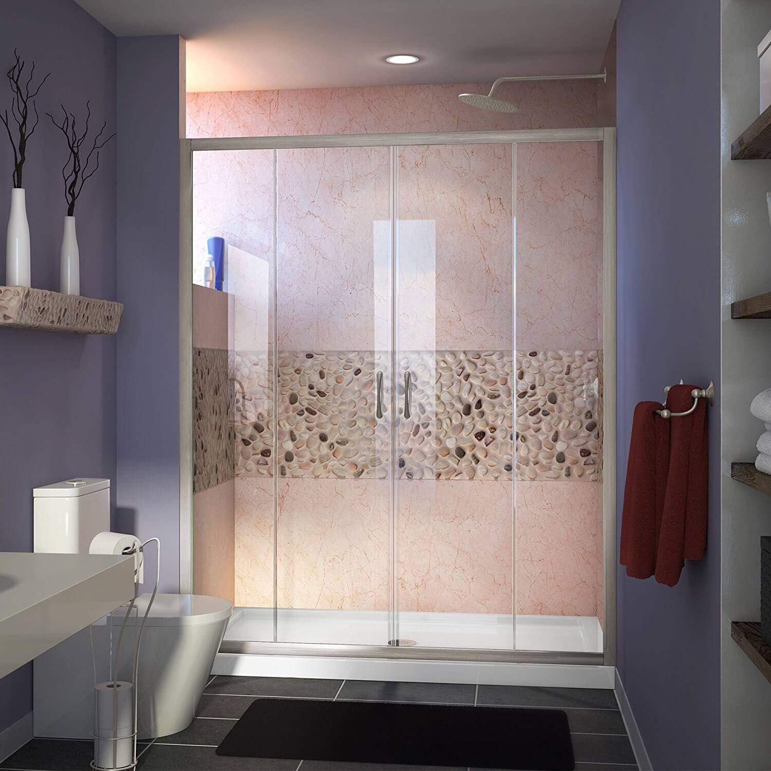 DreamLine Visions 56-60 in. Width, Frameless Sliding Shower Door