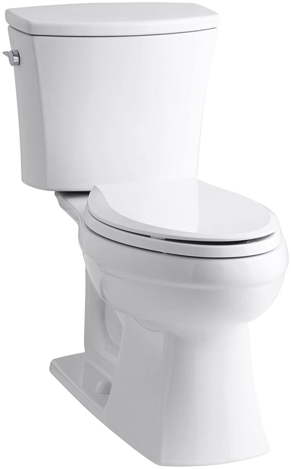 KOHLER K-3755-0 Kelston Comfort Height Two-Piece Toilet with 1.28 GPF and Elongated Bowl, White