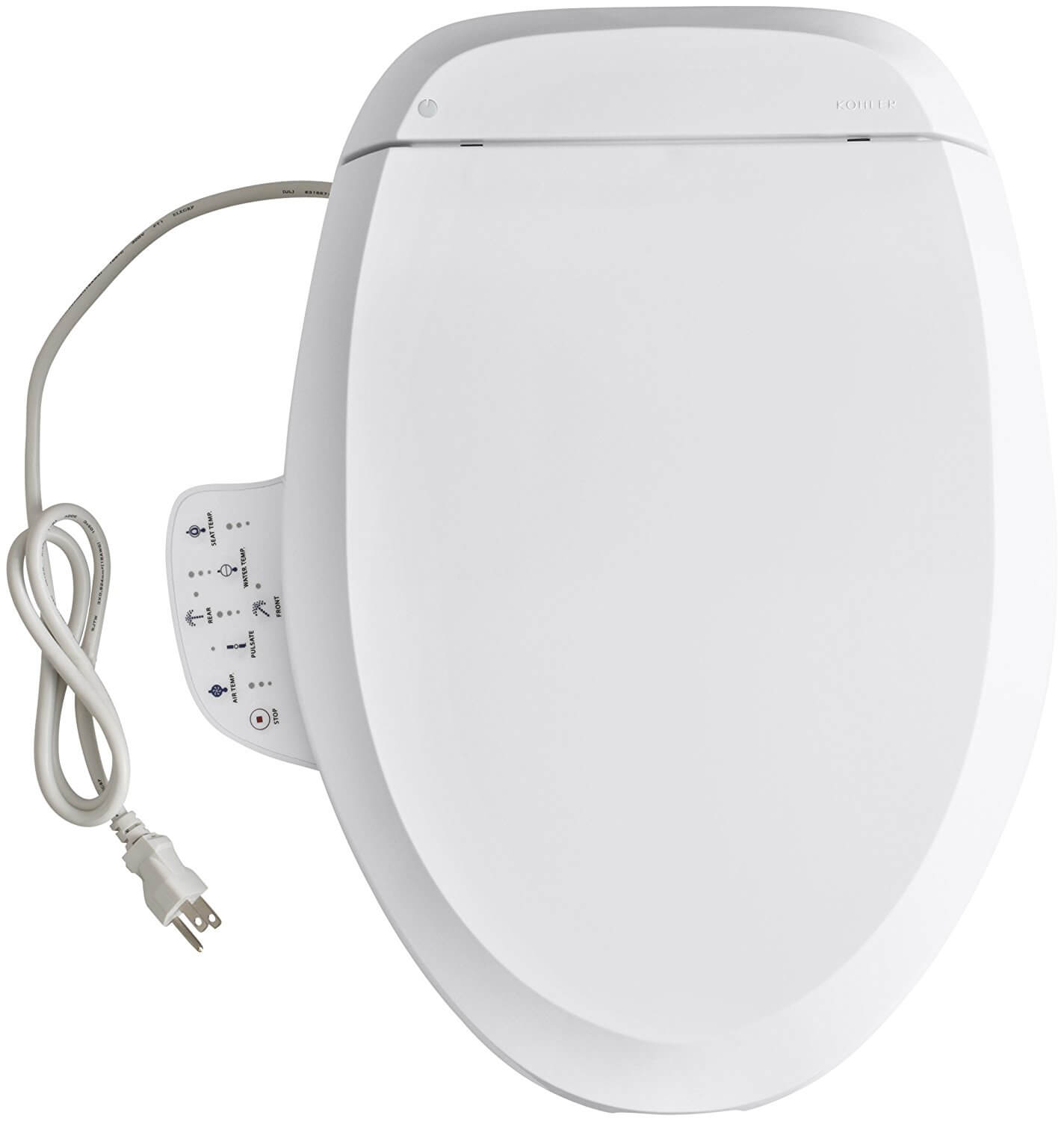 KOHLER K-4737-0 C3-125 Elongated Bidet Toilet Seat