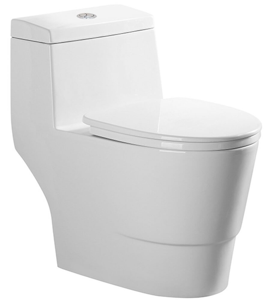 10 inch rough in toilet - Woodbridge Dual Flush Elongated One Piece Toilet With Soft Closing Seat