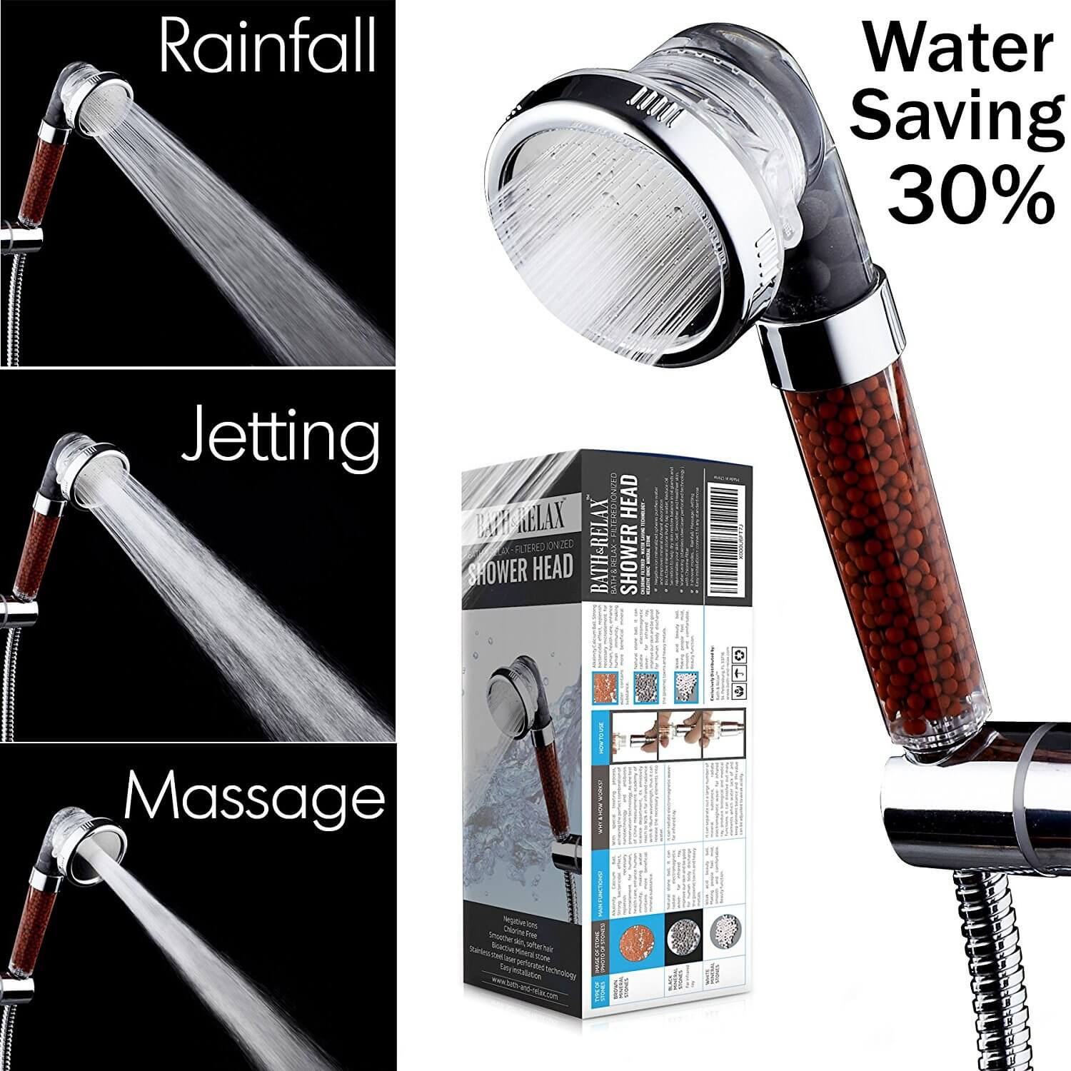 Filtered Hand Held Shower Head Filtration System