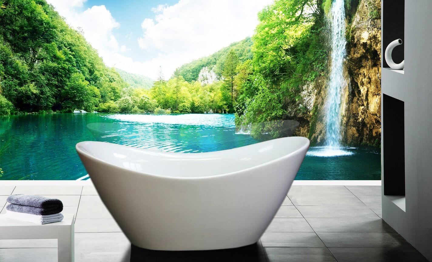 AKDY F210 Bathroom White Color Free Standing Acrylic Bathtub