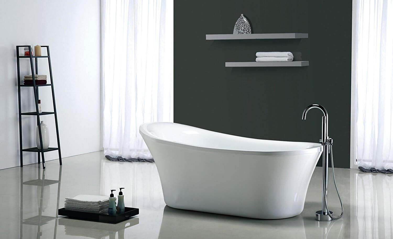 OVE Rachel 70-Inch Freestanding Acrylic Bathtub