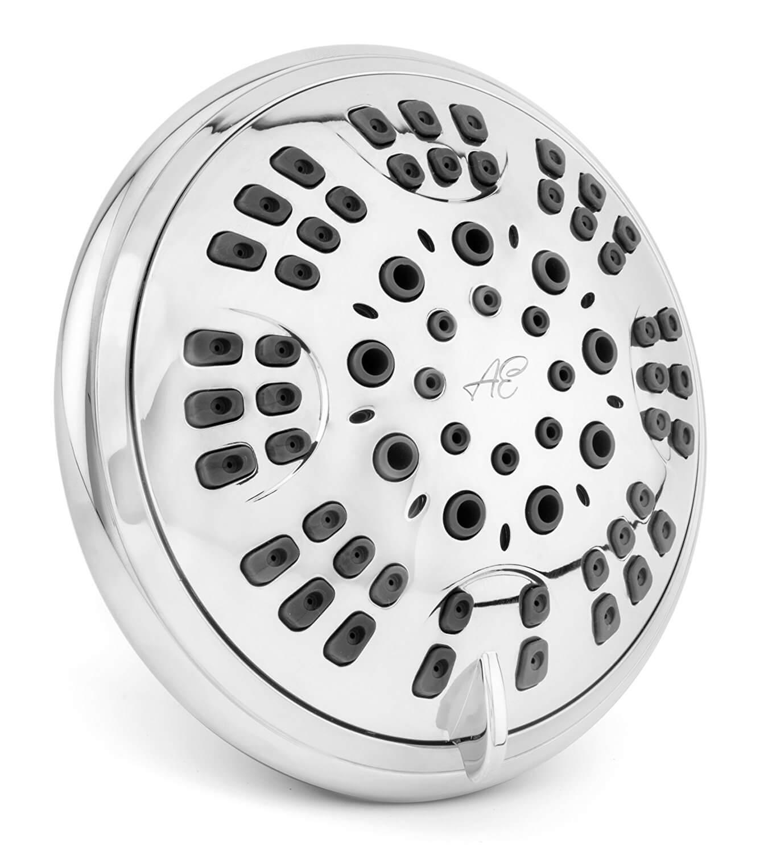 6 Function Luxury Shower Head - Amazing High Pressure, Wall Mount, Adjustable Showerhead
