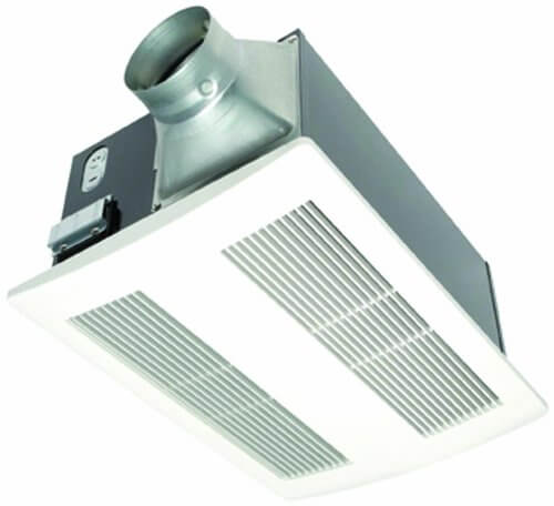 Panasonic FV-11VH2 Whisper Warm 110 CFM Ceiling Mounted Fan, Heat Combination