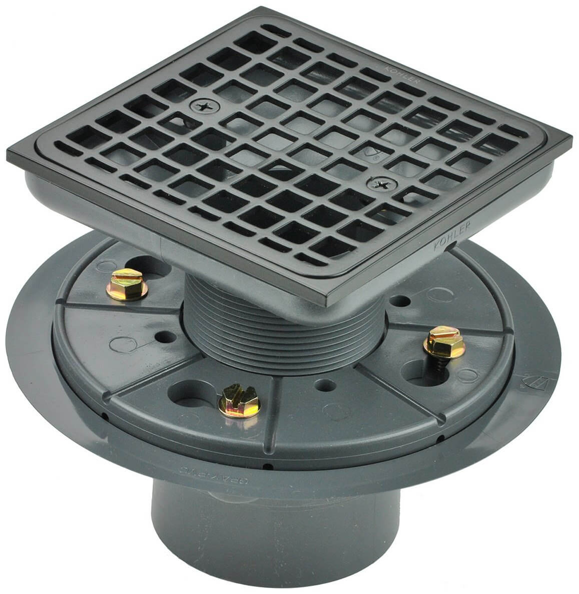 Kohler K-9136-2BZ Tile-In Square Shower Drain
