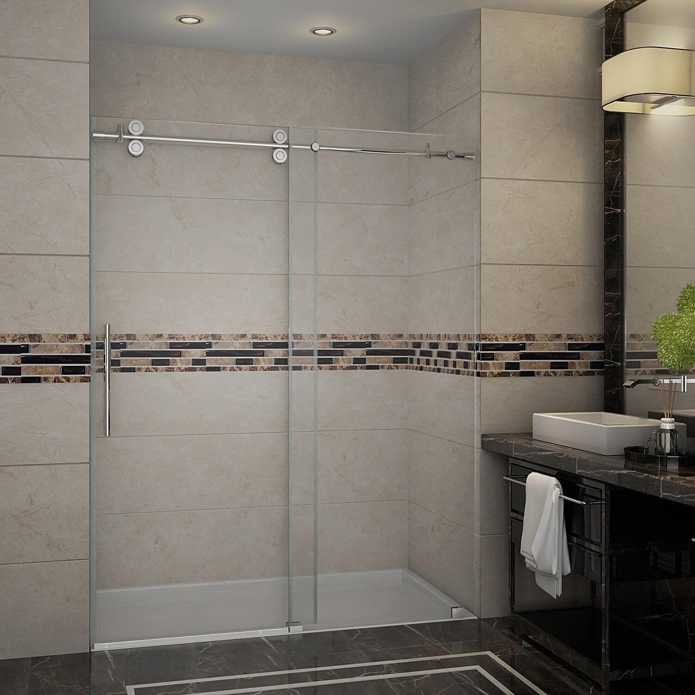 Aston SDR978-SS-60-10 60″ Frameless Sliding Shower Door