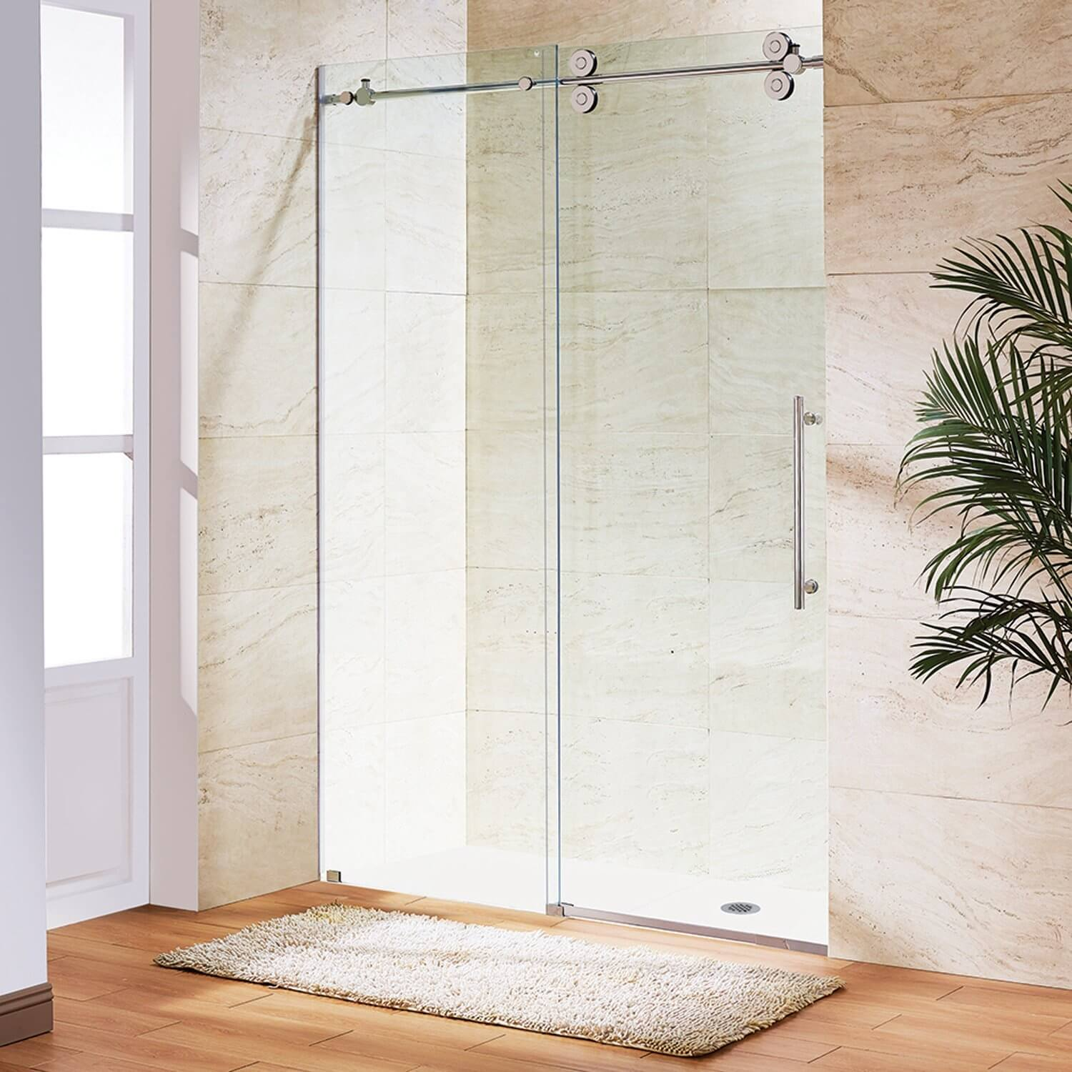 cleaning bathroom glass shower doors