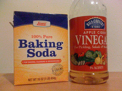 Baking Soda and Vinegar Used for Shower Drain Unclogging