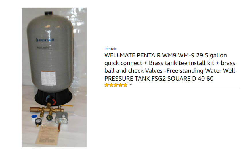 wellmate pressure tank Won't rust in corrosive environments, particularly important in coastal regions.