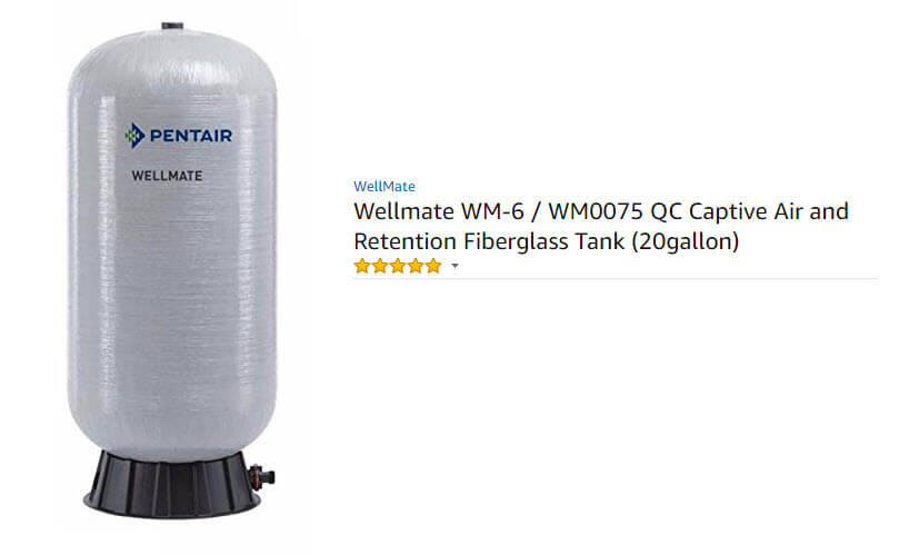 wellmate pressure tank extended labor warranty option is available to homeowners.
