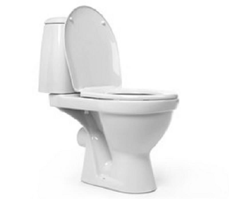 one piece toilet bowl in a white background for one piece vs two piece toilet