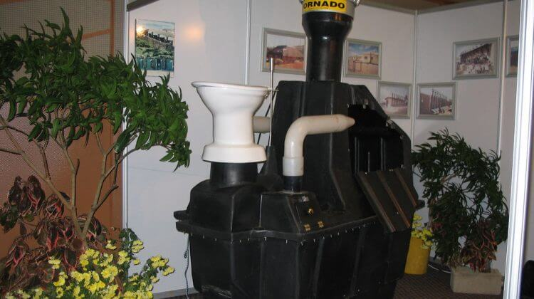 Enviro Loo Composting Toilet at public an exhibition to show Waterless composting toilet system