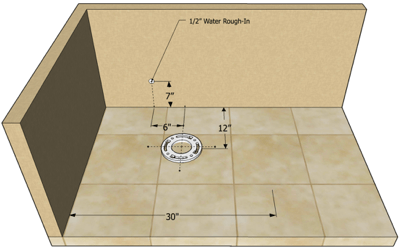 small toilet rough-in measurements