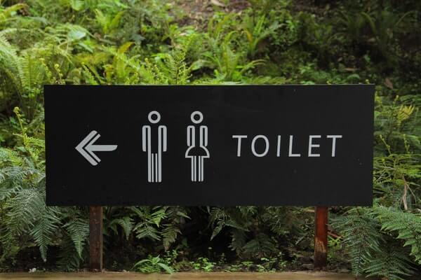 bathroom direction