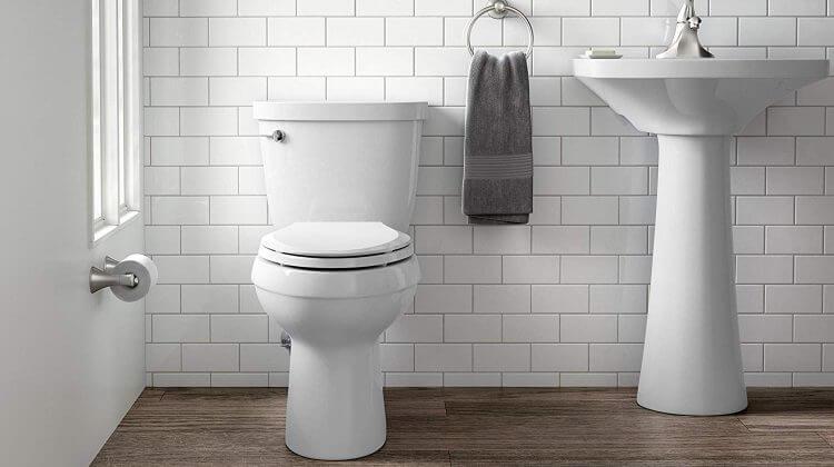 Kohler cimarron toilet installed on a bathroom