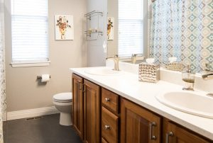 your bathroom could have a bidet, bidets fit on your toilet shown here in a bathroom